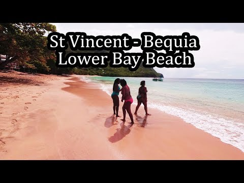 (4K) St Vincent - Bequia Island - Walking Lower Bay Beach - Sept 2017