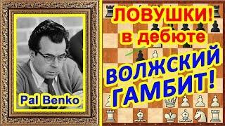 Шахматы ♔♕ Шахматные ЛОВУШКИ в дебюте Волжский гамбит!