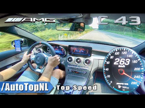 NEW! Mercedes AMG C43 C Class TOP SPEED on AUTOBAHN by AutoTopNL