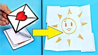 как сделать открытку своими руками из картона и бумаги