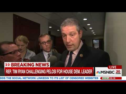 MSNBC Reports on Rep. Tim Ryan Challenging Pelosi for House Democratic Leader