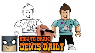 How to Draw Denis Daily | Roblox (Art Tutorial)