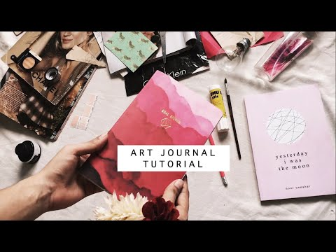 art journal tutorial with poetry from {yesterday i was the moon}