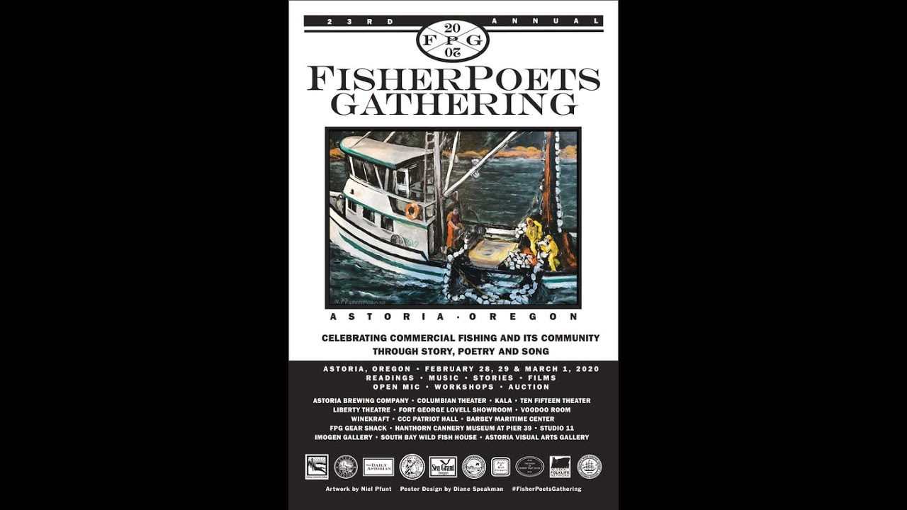 Lara Messersmith-Glavin performs at THE FISHERPOETS GATHERING 2020 (10-15 building, Astoria OR)