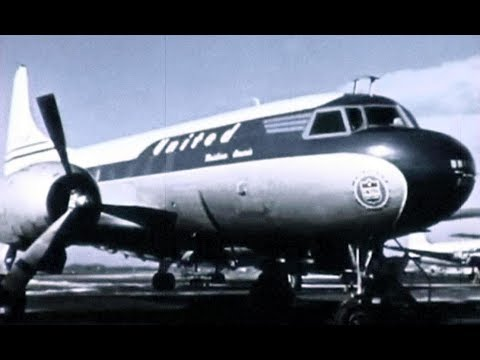 United Convair CV-340 Promo Film - 1955