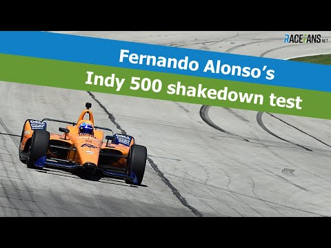 Alonso's McLaren Indy 500 shakedown test at Texas Motor Speedway
