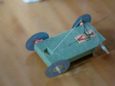 My Mousetrap Car For Science Project Youtube