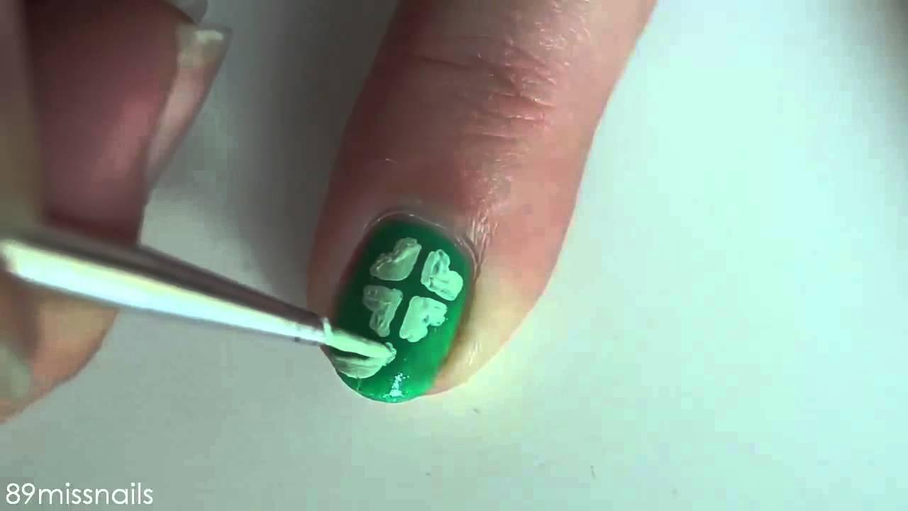 Uñas para San Patricio | St Patrick\'s day nails - YouTube