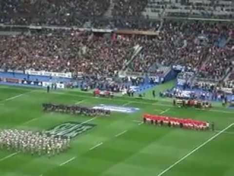 France v Wales 2017. The Anthems.
