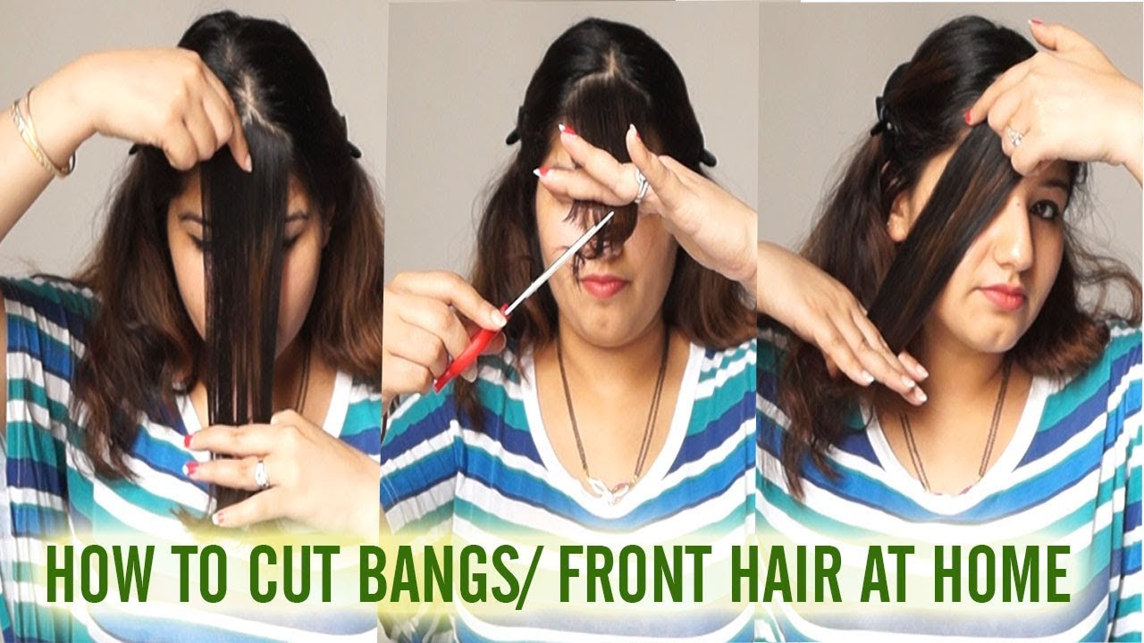 How to cut bangs/ front hair at home