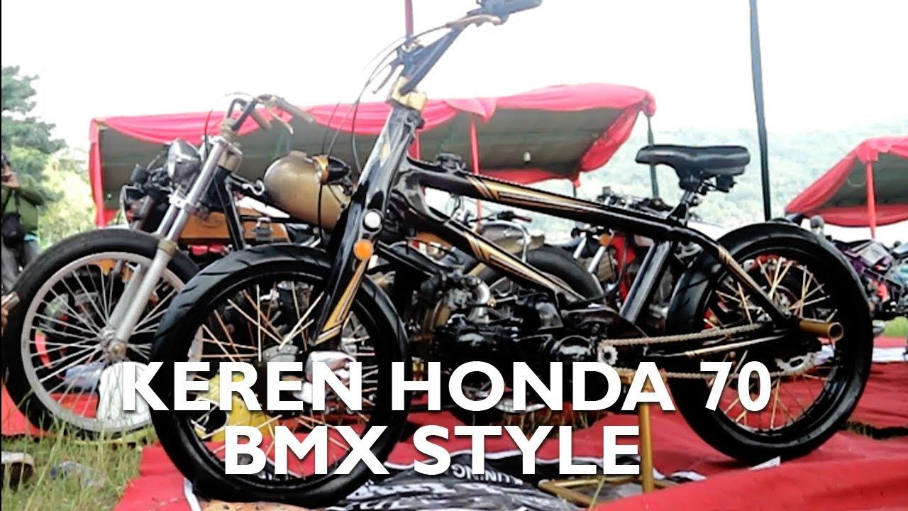 Modifikasi Simple Gaya Sepeda Bmx Honda 70 Abah Iman Youtube