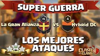 Super Guerra contra Hybrid DC | Ataques 3 Estrellas | Clash of Clans |