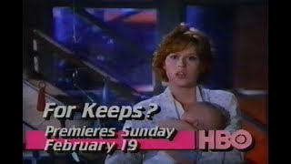 For Keeps? (1988) HBO promo