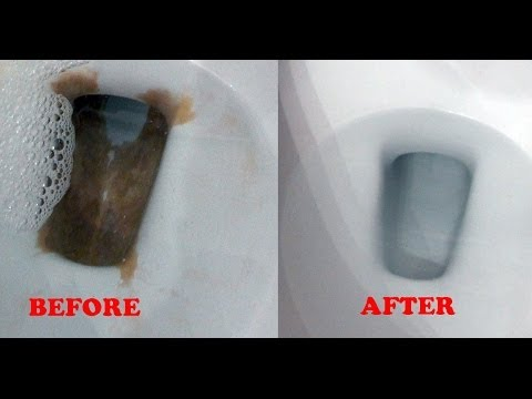 Toilet lazy flush and mineral buildup repair - Lime or Calcium in HD