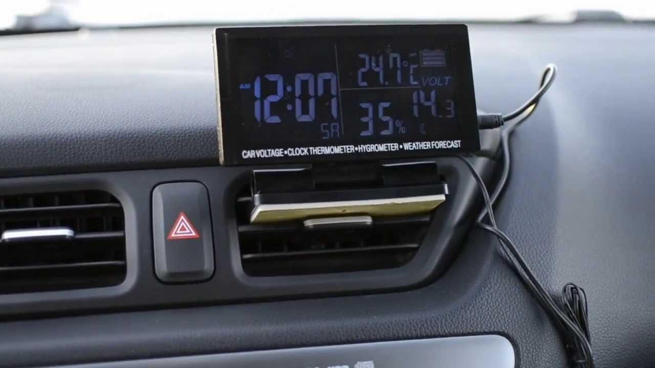 Электронный термометр с выносным датчиком - YouTube