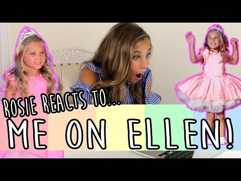 REACTING TO MYSELF ON THE ELLEN SHOW! | Rosie McClelland