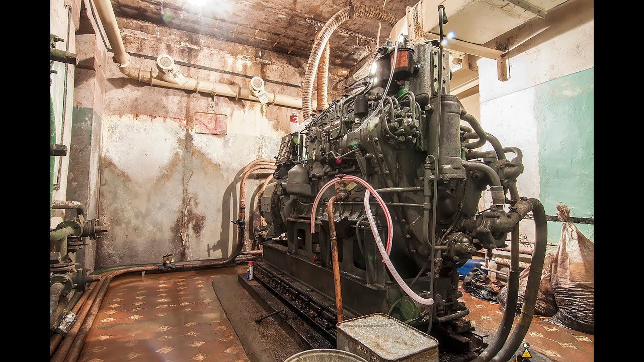 Diesel generator engine cold start after 10 years in bunker