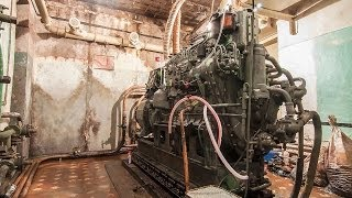 Diesel generator engine cold start after 10 years in bunker. GRAUZTI.LV (ENG/LAT/RUS SUBS)(Diesel generator engine cold start after 10 years in bunker. Запуск на холодную дизельного генератора после 10 летнего простоя в бункер..., 2014-02-11T17:42:26.000Z)