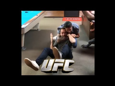 Brendan Schaub Taps Out Bryan Callen at Joe Rogan Studio