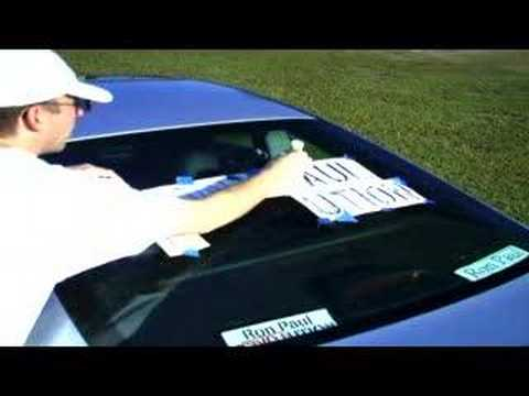 Do it yourself ron paul vinyl stickers car youtube