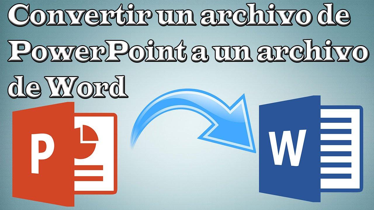 Como convertir un documento de PowerPoint a un documento