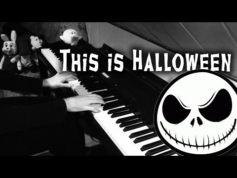 This Is Halloween (Piano Video) Nightmare Before Christmas
