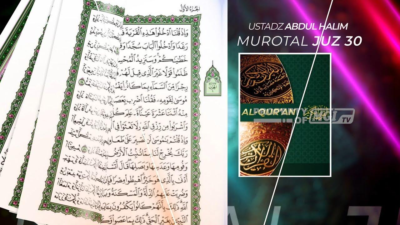 Murottal Al Qur'an Juz 30 Bacaan Surah At Takwir - Abdul Halim