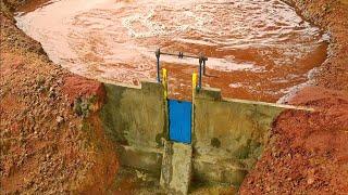 miniature concrete dam, miniature dam making, mini dam building,mini dam videos,small dam project