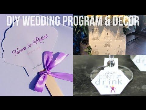 DIY WEDDING DECOR   PROGRAM & SIGNS