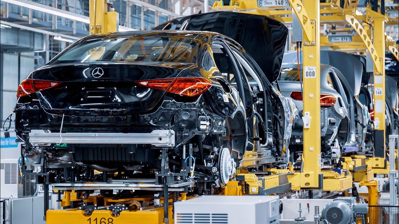 مصنع انتاج مرسيدس سي كلاس 2022 الجديدة