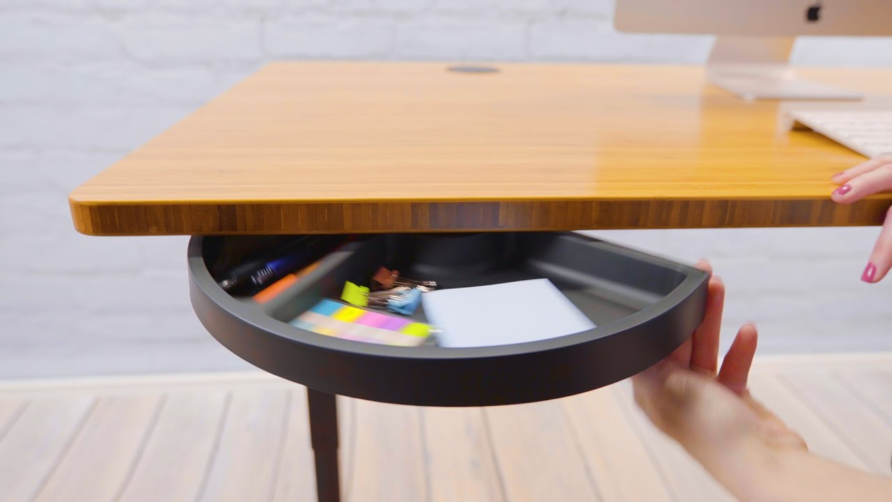 UPLIFT Half Circle Desk Drawer  YouTube