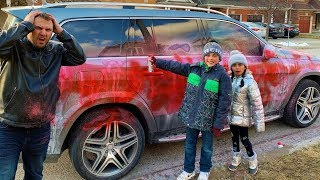 Spray Painted our Dads Car Prank ( Funny Video)