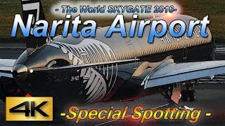【4K】2016 Special !! 2Hour Spotting in NARITA Airport HOTEL MARROAD Vol2 the Amazing Airport Spotting