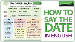 How to say the DATE in English