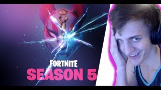 NINJA Reacts to BATTLE PASS SEASON 5 FORTNITE