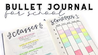BULLET JOURNAL FOR COLLEGE | Stay Organized This School Year! | Reese Regan