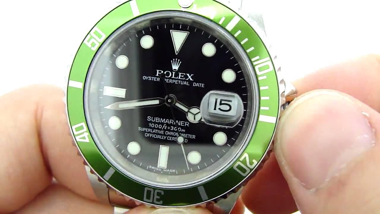 Rolex Submariner 50th Anniversary Kermit Green Bezel Hands