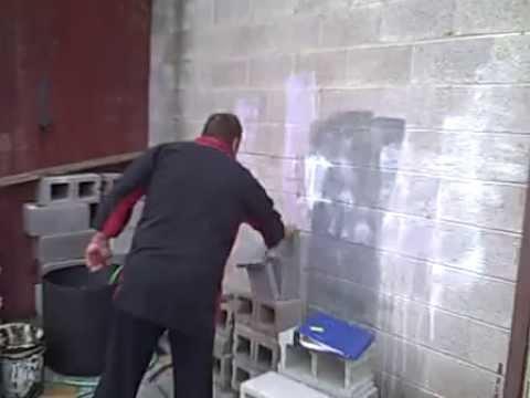 Tiger Kai School Record 4 un-spaced 2″ concrete blocks with side kick