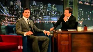 Tom Welling on Late Night with Jimmy Fallon 5-5-2011