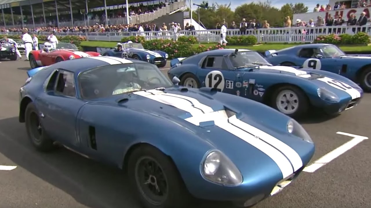 All 6 Shelby Daytona Coupes EVER MADE race at Goodwood Revival - YouTube