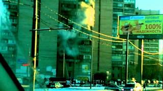 Пожар в общаге пр. Маршала Жукова д.20 над приемной Милонова В.В