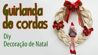 Decoração de Natal – Guirlanda de Corda