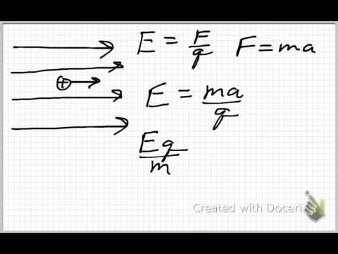 Electric Field, Acceleration, and Speed