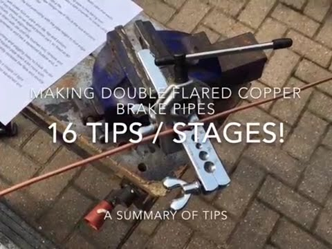 How to Make Brake Pipes 16 Tips / Stages!