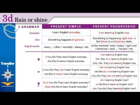 Traveller 1 Module 3d-3 Grammar Present Simple Vs Progressive + Workbook B,C