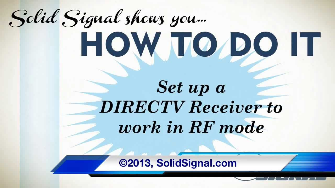 How To Do It Set Your Directv Receiver Work With An Rf Remote Wiring Diagram For Direct Tv Dvr Youtube
