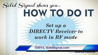 HOW TO DO IT: Set your DIRECTV Receiver to work with an RF Remote