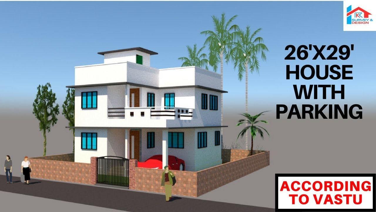 26x29 modern east facing house with parking || RK Survey & Design ...