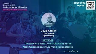 OLConf2018 Keynote 1 - David Collien