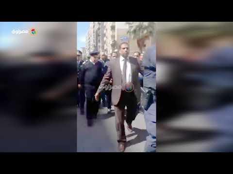 بعد انفجار استهدف موكبه..مدير أمن الإسكندرية في موقع الحادث